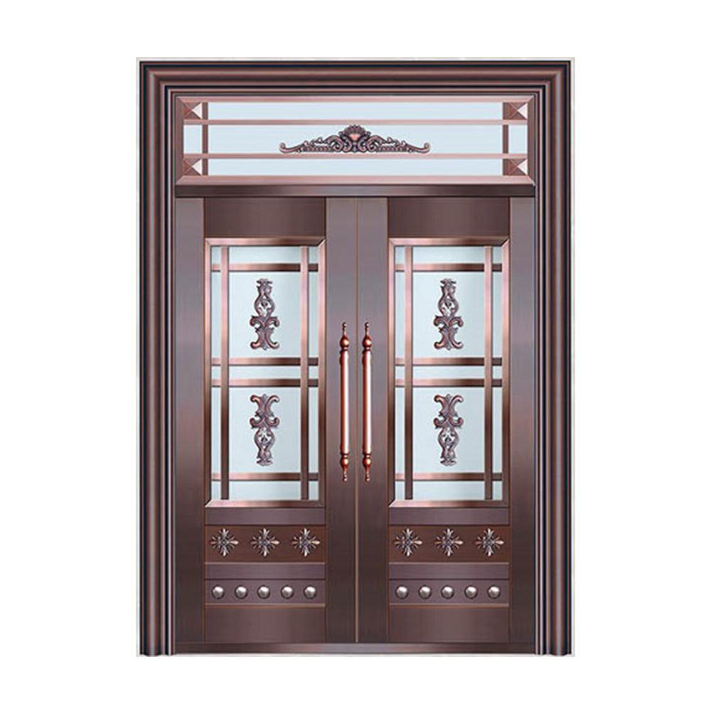 Latest Design Steel Safety Doors Main Gate Single And Half Doors In Metal Skin Buy Stainless Steel Door Design Hinge For Iron Door Outdoor Wrought