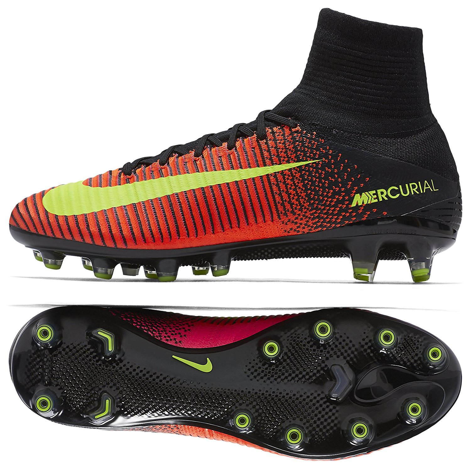 f070ed0507ab Get Quotations · Nike Mercurial Superfly V AG-PRO 831955-870 Crimson Men s  Soccer Cleats