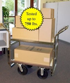 Charnstrom Medium Heavy Duty Industrial Package Cart (B108)