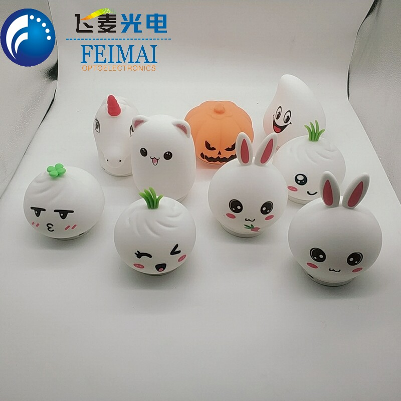 Factiry Price Color Changing Animal Rabbit Mini Night Light Baby Room Decoration