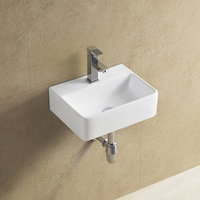 New Design Wall Hanging Bathroom Corner Sink
