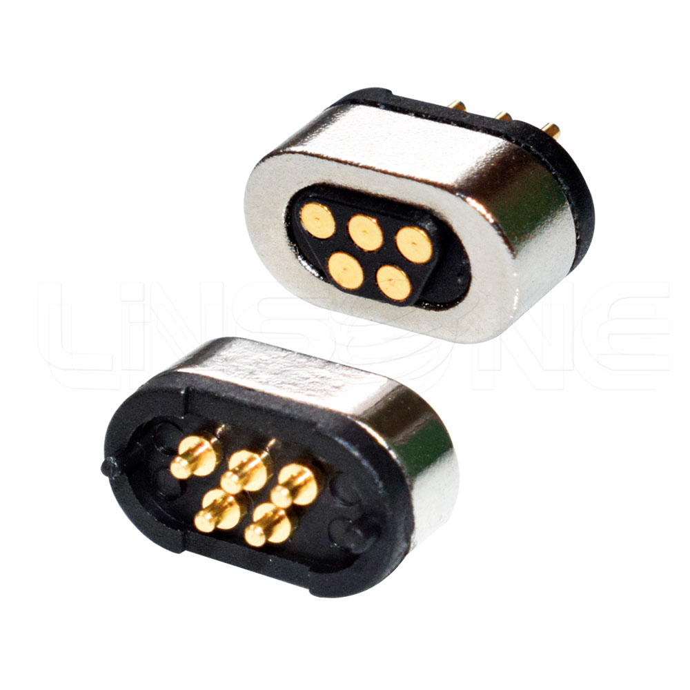 Magnetic 5 Pin Pogo Charging Connector With Powerful Force