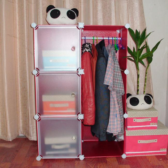 Diy simple wardrobe combination of single wardrobe child ...