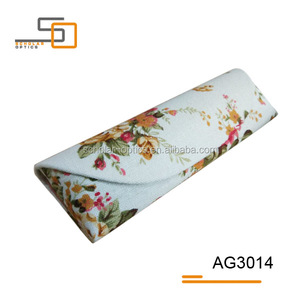 High-end flowers canvas material hand made reading glasses case