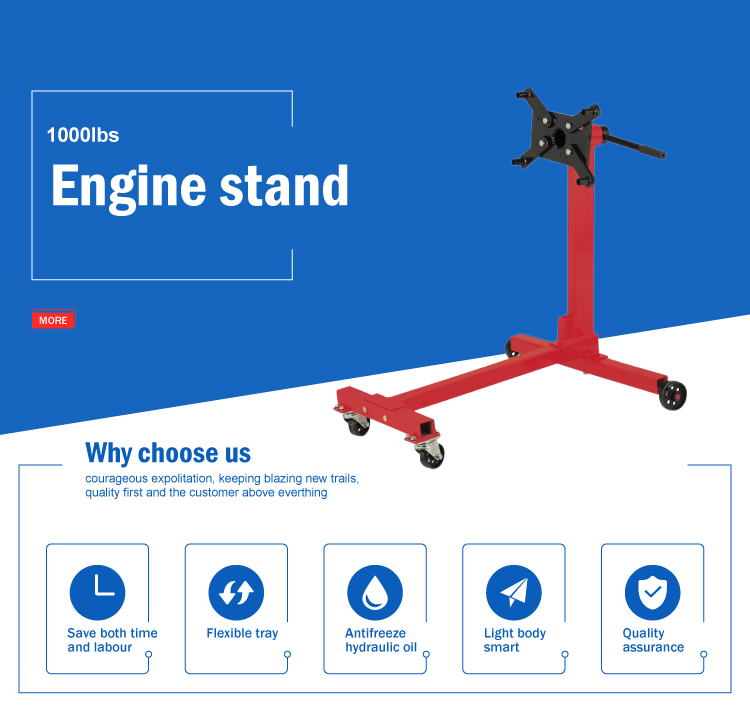 1000lbs loading capacity rotating mobile hydraulic engine stand