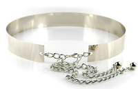 Latest Popular Gold Silver Ladies Chain Metal Belts