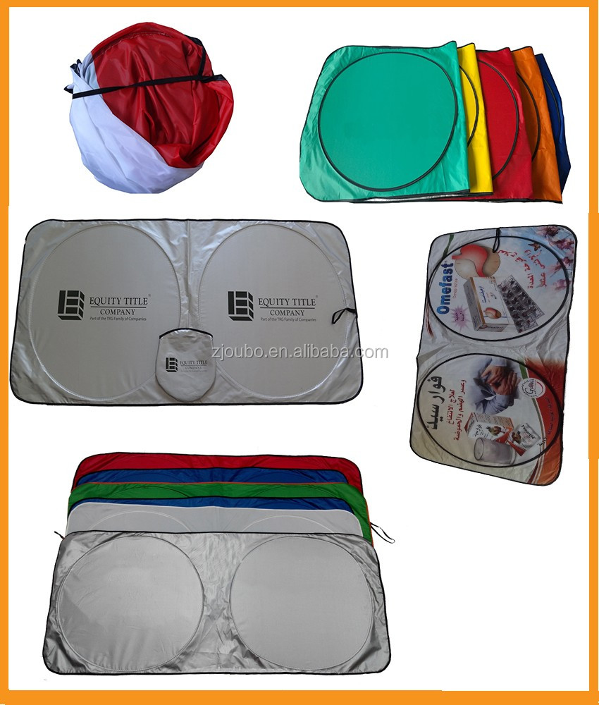 Popular customized logo front collapsible sunshade