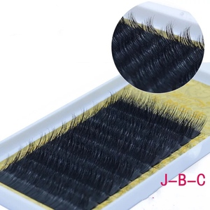 All Size JBCD 0.15mm Curl Eyelash Extensions Individual Eyelashes Black Mink False Lashes