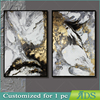 Customized for 1 PC Framed Canvas Oil Group Painting with Gold Leaf