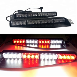 32 LED Car Warning Emergency Visor Mount Dash Strobe Light Bar 12V Red White