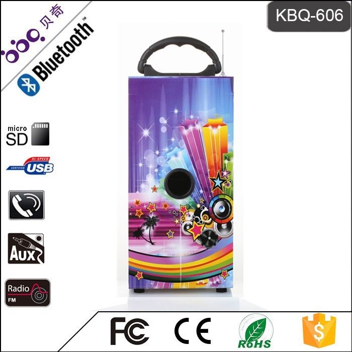 BBQ KBQ-606 10W 1200mAh Best Quality Cost Performance Pro Audio Speakers with Remote Controller