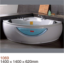 Luxus 1500 MM <span class=keywords><strong>Whirlpool</strong></span> Dusche Spa Massage Ecke 2 person Badewanne