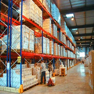 Galvanized material cold storage heavy duty racking system