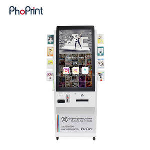 2018 March Expo Product Advertising Photo Vending Machines Hashtag Printer Photo Booth Kiosk Pictures Station