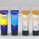 Paper,Canvas Painting Medium and Set Packaging acrylic paint