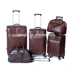 high quality PU aluminum tool trolley case luggage set