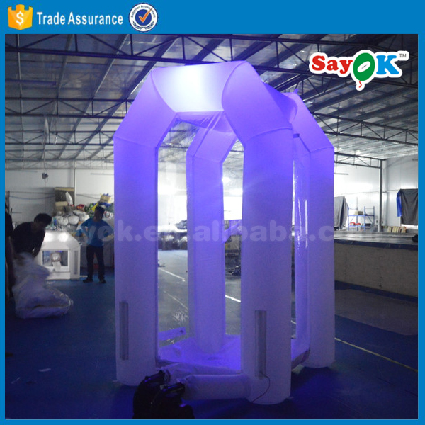 Cheap lighting inflatabel money machine/inflatable cash cube/inflatable money booth