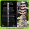 High transparent cupcake stand acrylic square 5 tiers cake display stand