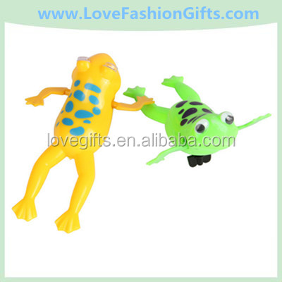 Spring Summer Chain Swimming Baby Water Bath Frog Plastic Toy