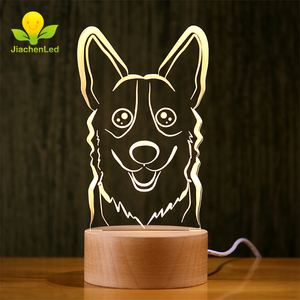 Wholesale Dog Wood Table Lamp,Wood Base Led Desk Lamp