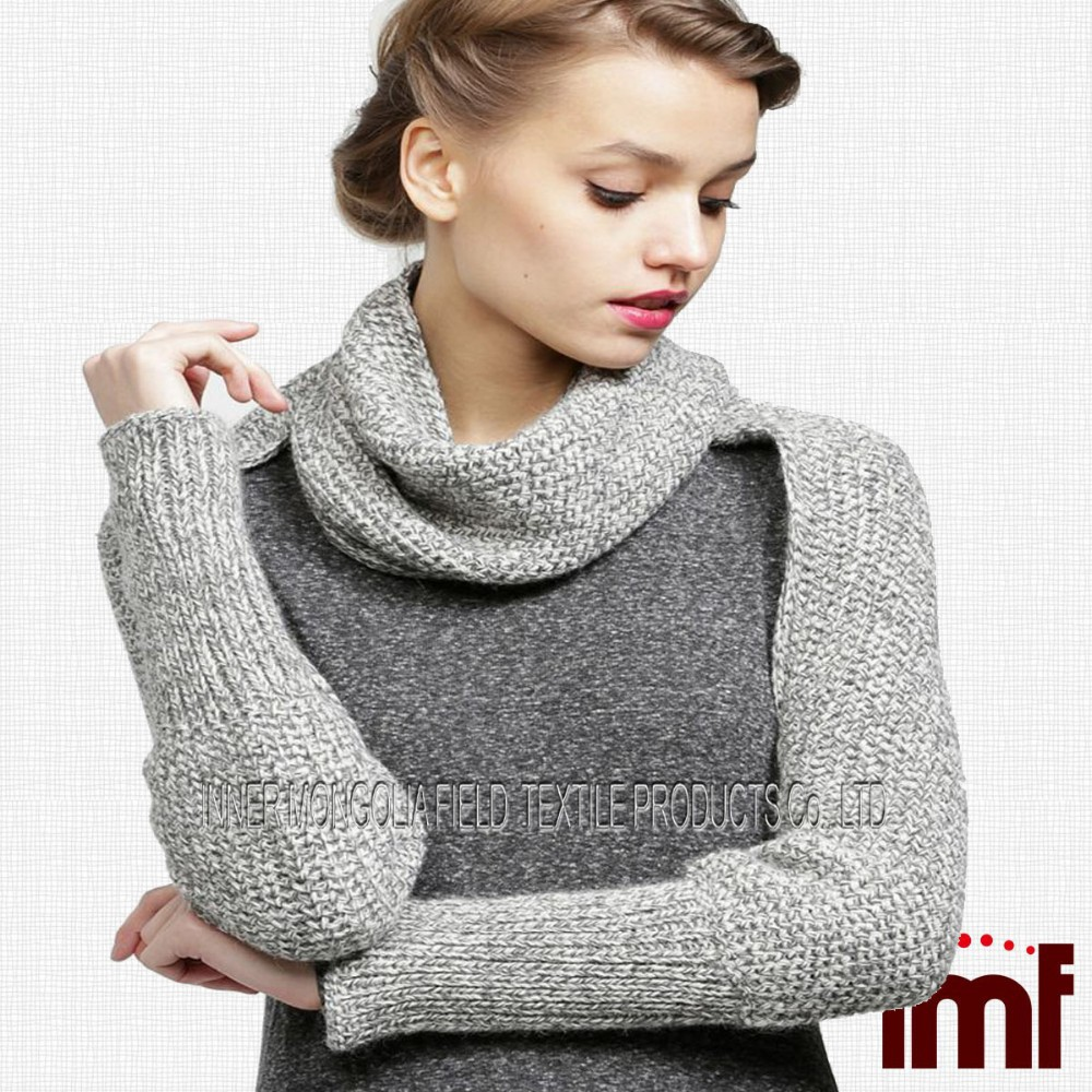 Cashmere Knitting Pattern Sleeve Scarf Sweater Wrap Buy Sweater