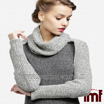 Cashmere Knitting Pattern Sleeve Scarf Sweater Wrap - Buy Sweater Wrap,Sleeve...