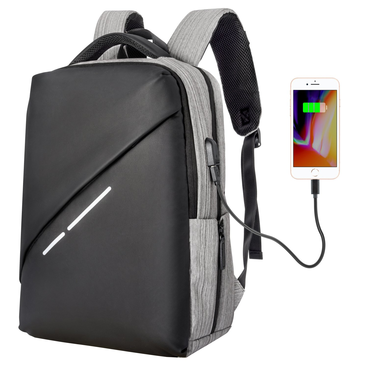 ed40d5ce7 Travel Backpack, Cambond 15.6 Inch Laptop Backpack With USB Charging Port, Business  Slim Laptop