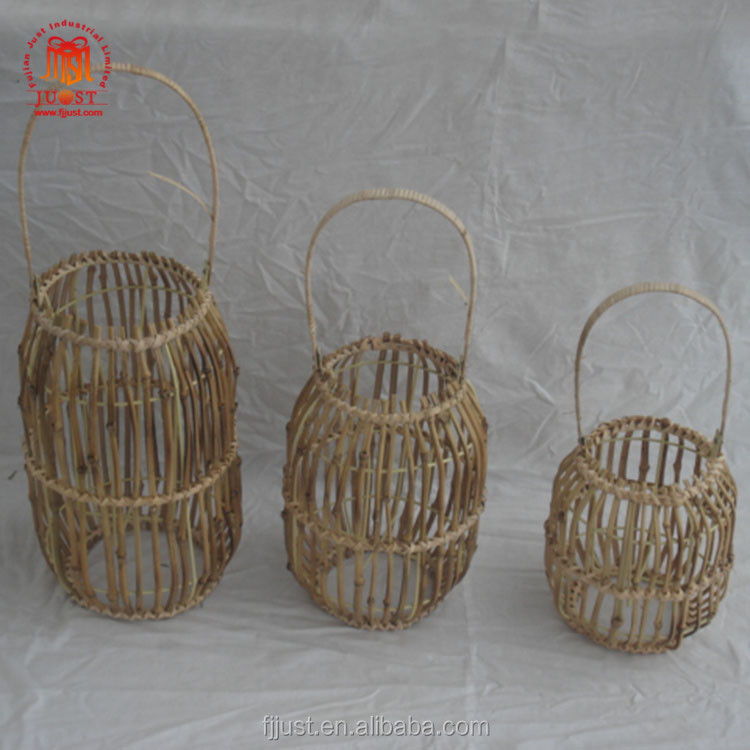 Wholesale Antique Light Retro Lobby Hanging Wooden Lantern Bamboo