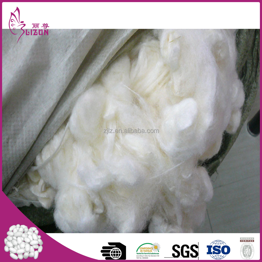 Factory wholesale natural dry tussah silk cocoon filler