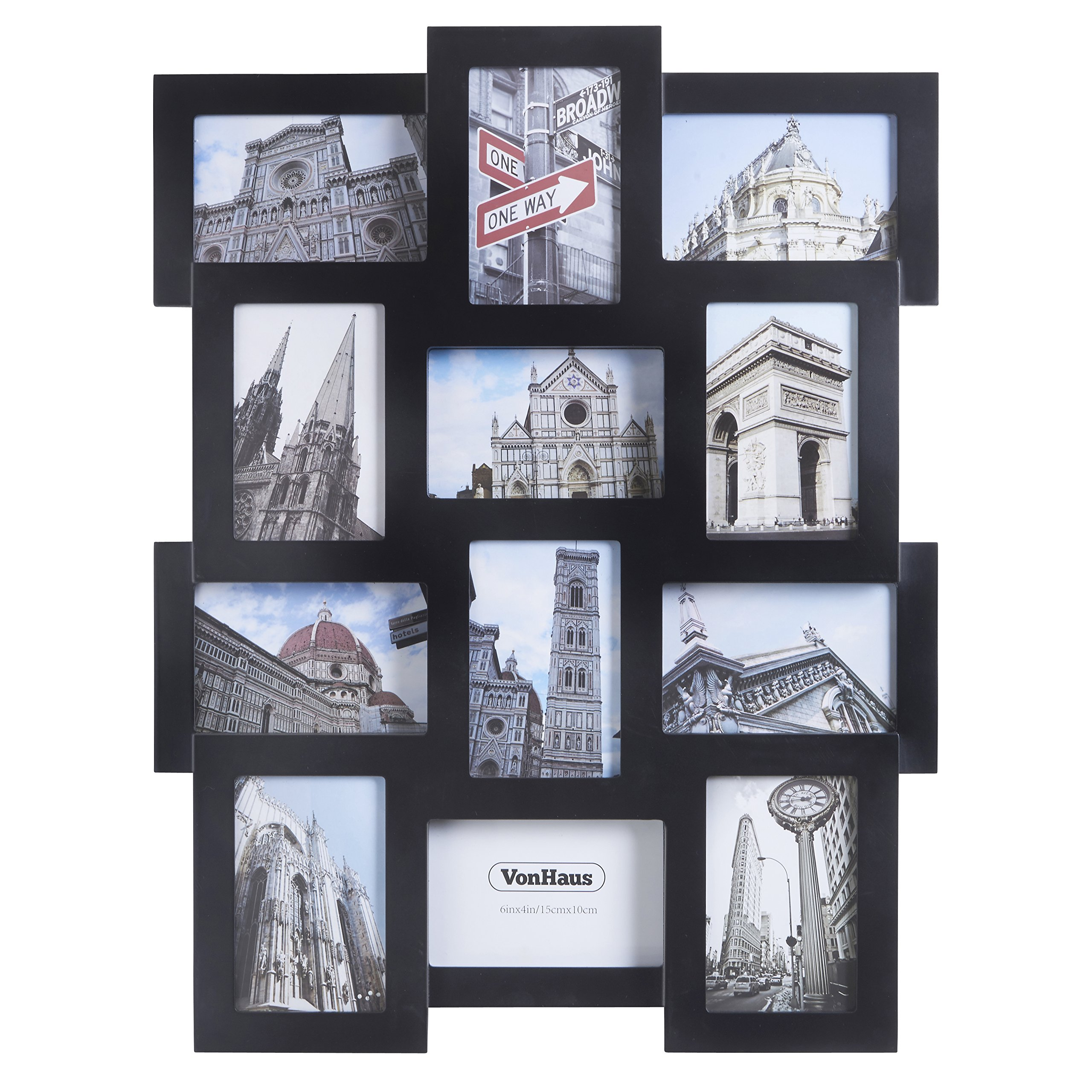 Buy VonHaus 12 x Decorative Collage Picture Frames For Multiple 4x6 ...