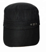 Factory Price custom polyester plain black baseball military caps