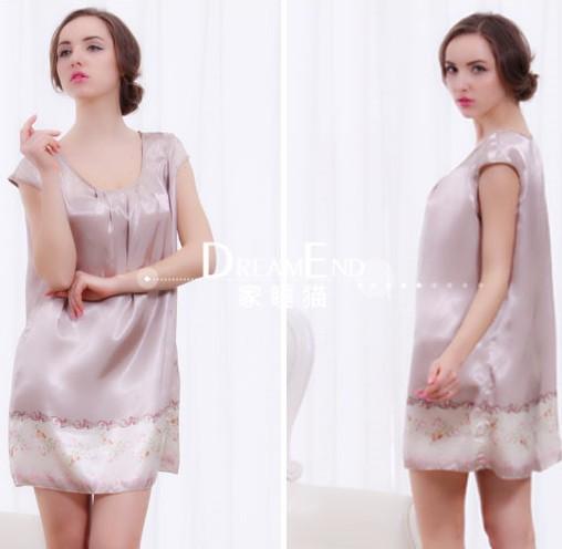 90a43c98cc Get Quotations · Loose Size Soft silk pajamas