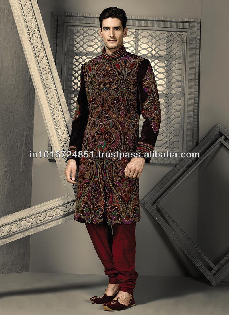 Indian Sherwani Untuk Pengantin Pria 8-8 - Buy Indian Sherwani Untuk  Pengantin Pria 8-8,India Pernikahan Sherwani Untuk Pria 8,Sherwani