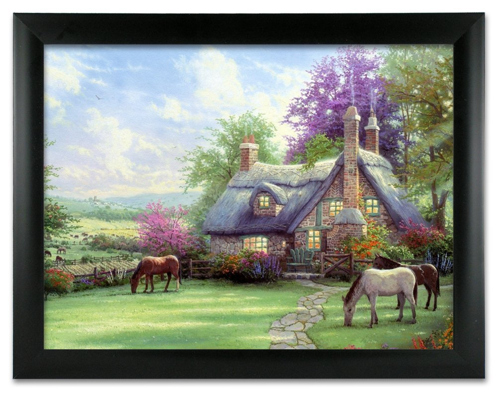 Buy Country Cottage and Horses 3D Dimensional Holographic Lenticular ...