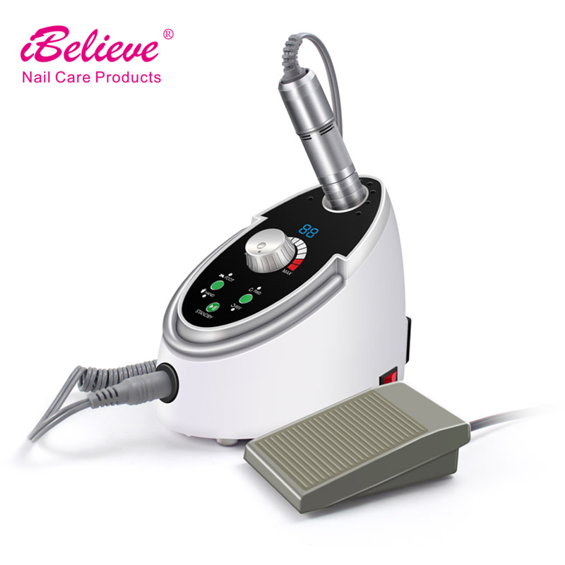 Wholesale iBelieve 65w suction nail drill for manicure pedicure