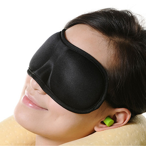 Contoured Comfortable Private Label Eyemask Luxury Fashion Sleeping Memory Foam Sleep Covers 3D Eye Mask With Ear Plugs