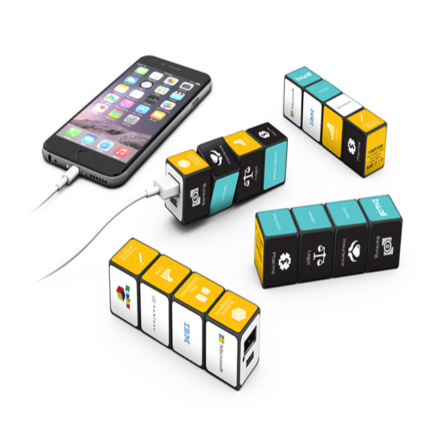 (Hot) Rubik 2600 mAh Parfum Power Bank, Mobile Power Bank 2600 mAh untuk iPhone/Android, Daya portabel Charger untuk iPhone X