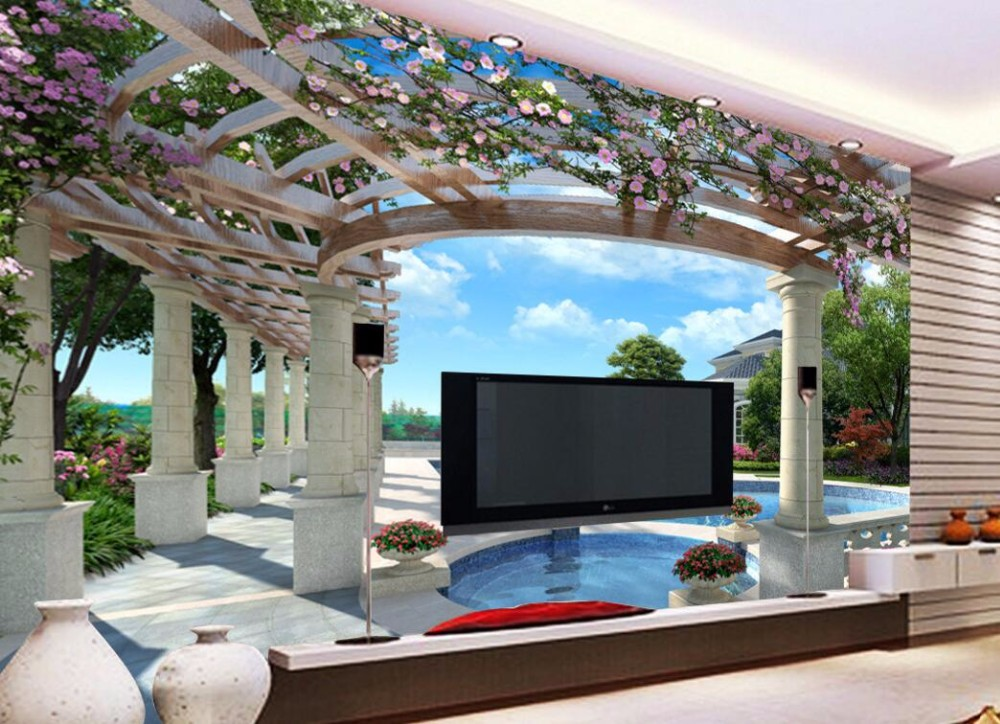 Decorative restaurant chair ceiling roof robot waiter for 3d roof wallpaper