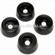 Round Rubber Feet / Non-Marking Molded Rubber Feet / Rubber Feet with Metal Insert