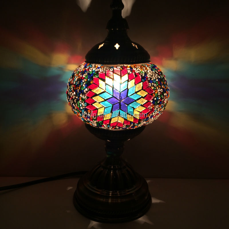 2016 New Design glass material Handmade Mosaic Art Turkish table Lamps home  decorative (TC1M01) - 2016 New Design Glass Material Handmade Mosaic Art Turkish Table