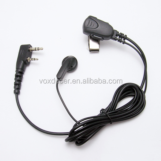 [E1801-K] For Kenwood 2 pins connector walkie talkie Two Way Radio Earphone K type connector