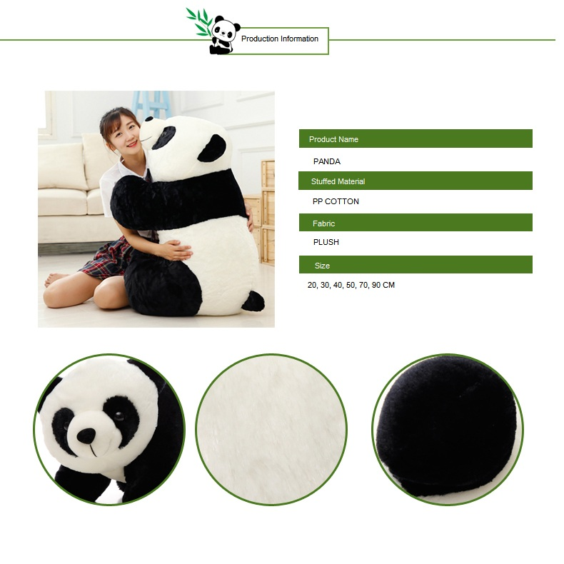 Factory High Quality New Design Giant Cute Fat Panda Plush Toy Stuffed