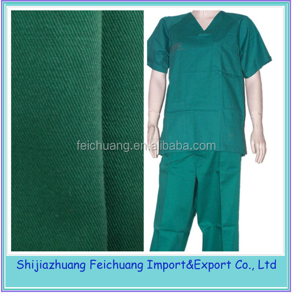 TC 65/35 medical fabric for doctor and patient unifom
