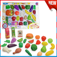 Plastic Kitchen Fake Food Cutting Vegetable Toys Pretend Play for Children