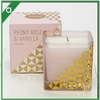 Gold Style Single Wick Air Fresh Aromaticc Blend Wax Candle with Essence