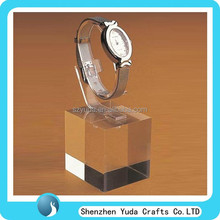 durable lucite c ring stand watch holder block, acrylic watch display for sale
