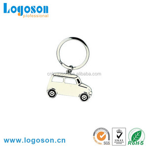 Promotional gifts logo engrave key ring metal keychain car