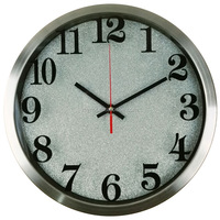 Cheap Promotional Quartz Metal/Aluminum Wall Clock With Logo Imprinted
