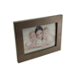 5*7 Inch modern black family concave barn wood timber picture frame