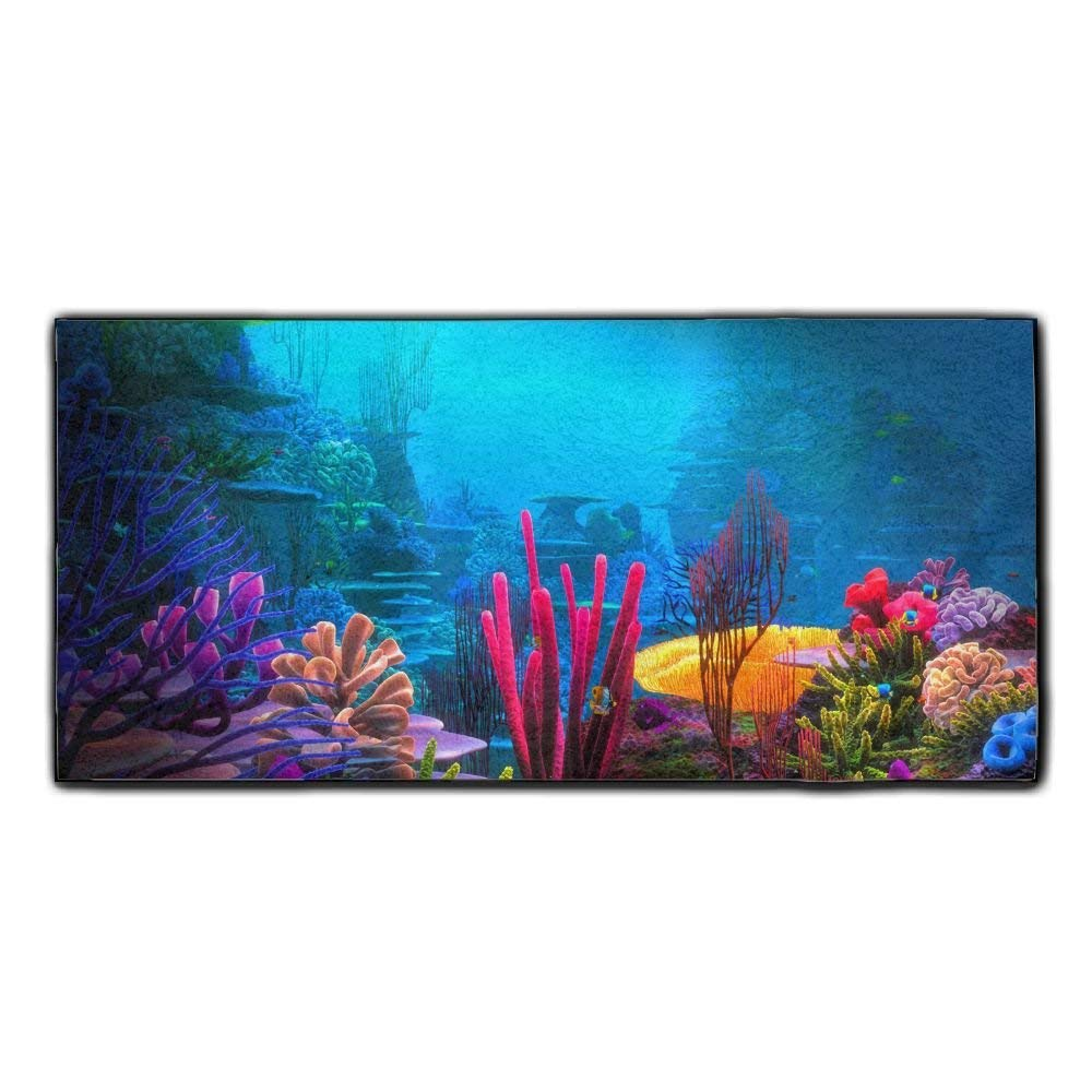 Baerg Microfiber Super Absorbent Face Towel Sea Colorful Coral Hair Care Towel Gym And Spa Towel